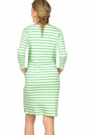 Knit-ted |  Striped dress Mylena | green  | Picture 5