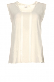 Knit-ted |  Fringed top | white  | Picture 1