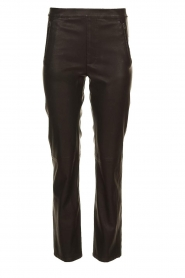Knit-ted |  Faux leather leggings Merle | black  | Picture 1