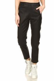 Knit-ted |  Faux leather leggings Merle | black  | Picture 2