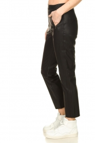 Knit-ted |  Faux leather leggings Merle | black  | Picture 4