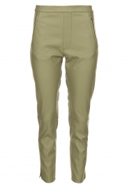 Knit-ted |  Faux leather pants Merle | green  | Picture 1