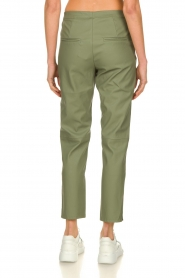 Knit-ted |  Faux leather pants Merle | green  | Picture 5