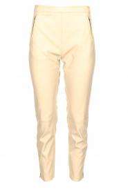 Knit-ted |  Faux leather leggings Merle | beige  | Picture 1