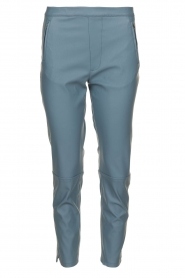 Knit-ted |  Faux leather leggings Merle | blue  | Picture 1