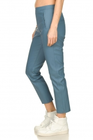 Knit-ted |  Faux leather leggings Merle | blue  | Picture 4