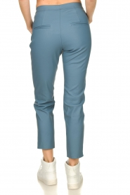 Knit-ted |  Faux leather leggings Merle | blue  | Picture 5