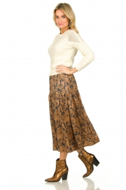 Lolly's Laundry |  Floral printed midi skirt Cokko | multi  | Picture 3