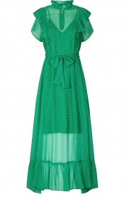 Lolly's Laundry |  Dotted maxi dress Ricca | green  | Picture 1
