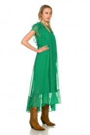 Lolly's Laundry |  Dotted maxi dress Ricca | green  | Picture 4