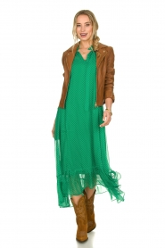 Lolly's Laundry |  Dotted maxi dress Ricca | green  | Picture 3