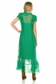 Lolly's Laundry |  Dotted maxi dress Ricca | green  | Picture 5