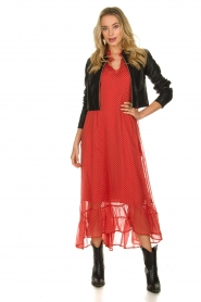 Lolly's Laundry |  Dotted maxi dress Rica | red  | Picture 3