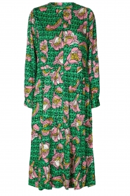 Lolly's Laundry |  Printed midi dress Kaia | green  | Picture 1