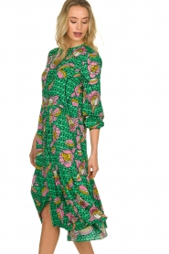 Lolly's Laundry |  Printed midi dress Kaia | green  | Picture 4