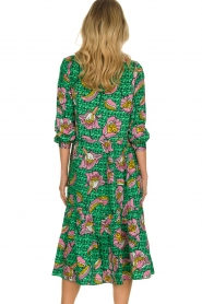 Lolly's Laundry |  Printed midi dress Kaia | green  | Picture 5
