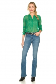 Lolly's Laundry |  Dotted see-through blouse Helena | green  | Picture 3