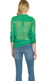 Lolly's Laundry |  Dotted see-through blouse Helena | green  | Picture 5