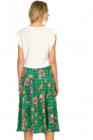 Lolly's Laundry |  Printed midi skirt Morning | green  | Picture 6