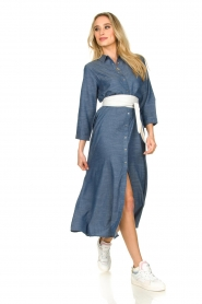 Lolly's Laundry |  Maxi jurk Nicole | blue  | Picture 3