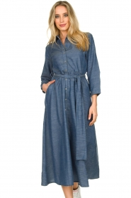 Lolly's Laundry |  Maxi jurk Nicole | blue  | Picture 4