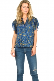 Lolly's Laundry |  Top with print Isabel|blue  | Picture 4