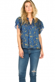 Lolly's Laundry |  Top with print Isabel|blue  | Picture 5