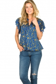 Lolly's Laundry |  Top with print Isabel|blue  | Picture 2