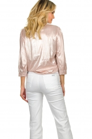 Lolly's Laundry |  Shiny blouse Amalie | nude  | Picture 5