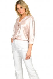 Lolly's Laundry |  Shiny blouse Amalie | nude  | Picture 2