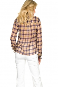 Lolly's Laundry |  Checkered blouse with lurex Melanie | purple  | Picture 6
