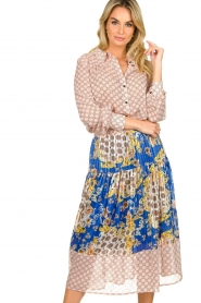 Lolly's Laundry |  Printed midi skirt Cokko | blue  | Picture 2