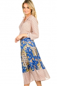 Lolly's Laundry |  Printed midi skirt Cokko | blue  | Picture 4
