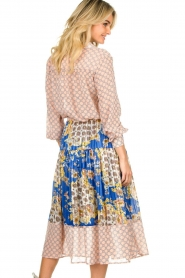 Lolly's Laundry |  Printed midi skirt Cokko | blue  | Picture 5