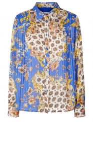 Lolly's Laundry |  Print blouse Molly | blue  | Picture 1
