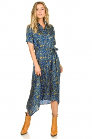 Lolly's Laundry |  Maxi dress with print Blake|blue  | Picture 4