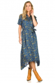 Lolly's Laundry |  Maxi dress with print Blake|blue  | Picture 3
