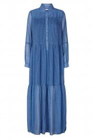 Lolly's Laundry | Maxi jurk met print Penny | blauw  | Afbeelding 1