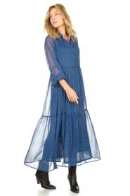 Lolly's Laundry | Maxi jurk met print Penny | blauw  | Afbeelding 4