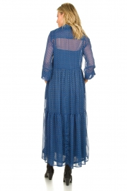 Lolly's Laundry | Maxi jurk met print Penny | blauw  | Afbeelding 5