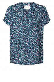 Lolly's Laundry |  Printed top Heather | blue  | Picture 1