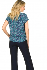 Lolly's Laundry |  Printed top Heather | blue  | Picture 6