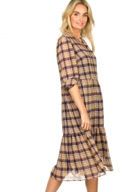 Lolly's Laundry |  Checkered dress with lurex Naja | purple  | Picture 4