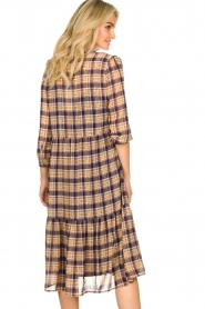 Lolly's Laundry |  Checkered dress with lurex Naja | purple  | Picture 7
