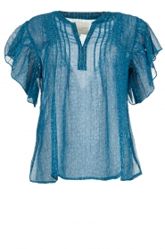 Lolly's Laundry    Printed ttop Isabel   blue    Picture 1