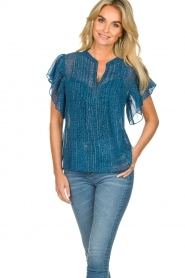 Lolly's Laundry    Printed ttop Isabel   blue    Picture 4