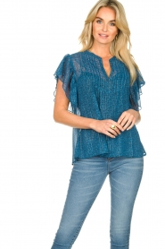 Lolly's Laundry    Printed ttop Isabel   blue    Picture 2