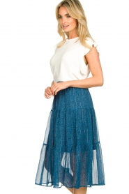 Lolly's Laundry |  Printed midi skirt Morning | blue  | Picture 5