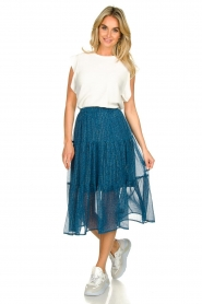 Lolly's Laundry |  Printed midi skirt Morning | blue  | Picture 3