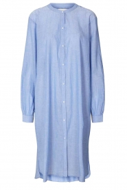 Lolly's Laundry |  Cotton shirt dress Basic | blue  | Picture 1